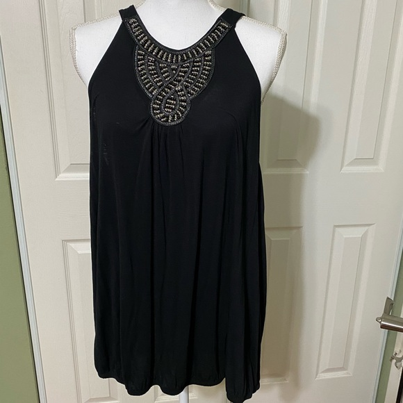 Lane Bryant Tops - Lane Bryant sleeveless black top with beading